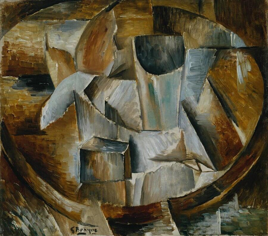 Glass on a Table 1909-10 by Georges Braque