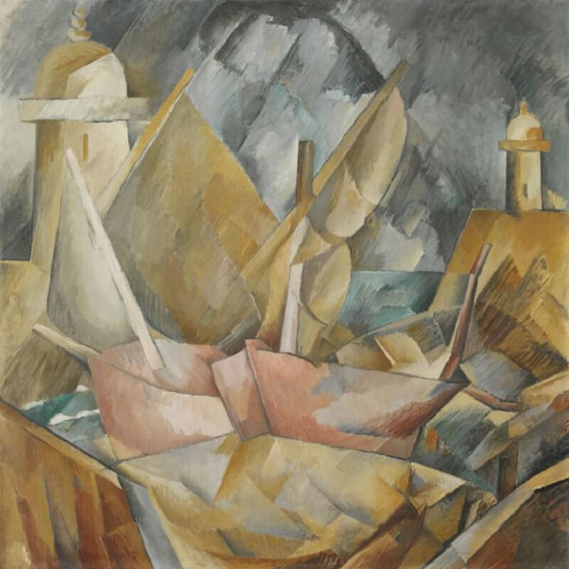 Resultado de imagen para georges braque Little Harbor in Normandy