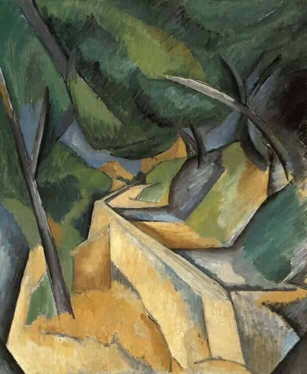 Road near L'Estaque, 1908 by Georges Braque