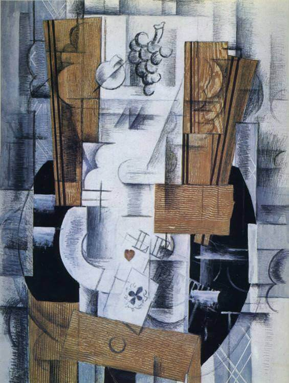 Still Life with Playing Cards, 1913 by Georges Braque
