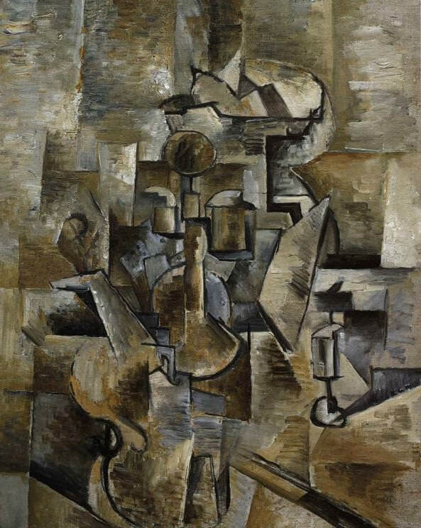 Violin and Candlestick, 1910 by Georges Braque