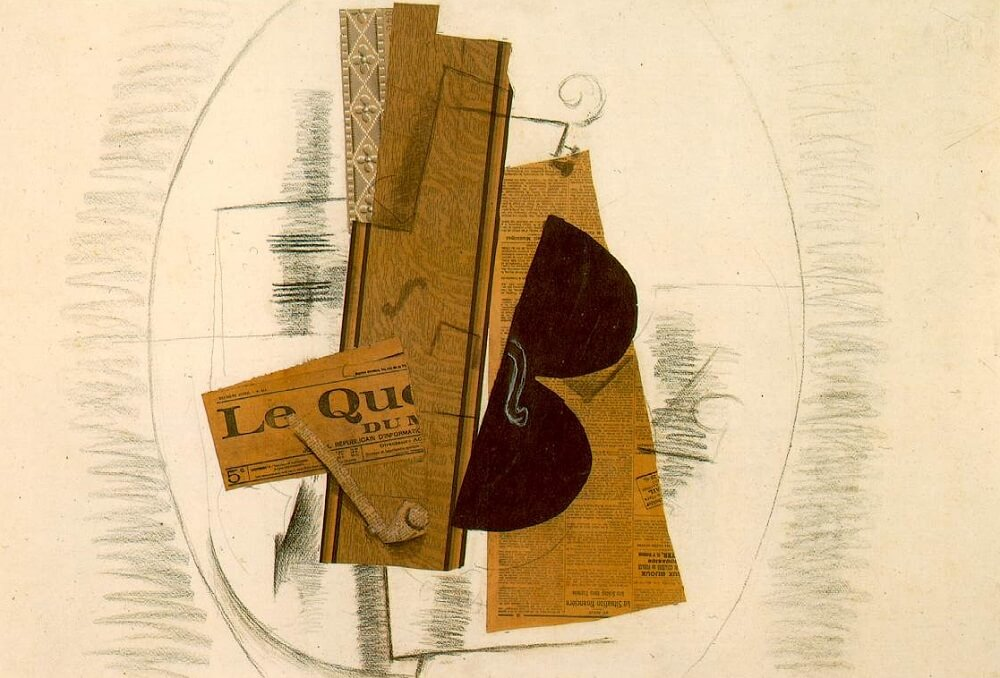 Vioilin and Pipe, 1913, by Georges Braque